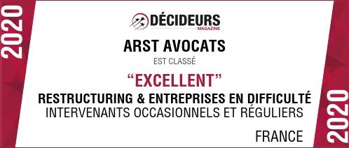 classement arst avocats excellent restructuring